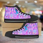 Magical Mushroom Trippy Lsd Psychedelic Colorful Unisex High Top Canvas Shoes