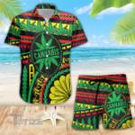 Weed Hawaiian Native Rasta Combo Summer Hawaiian Shirt and Shorts