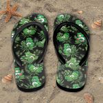 Weed Don't Care Bear Tropical Flip Flop