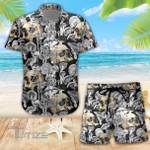 Mushroom Skull Pattern Combo Summer Hawaiian Shirt and Shorts