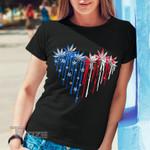 Weed Leaf Heart Flag Graphic Unisex T Shirt, Sweatshirt, Hoodie Size S - 5XL