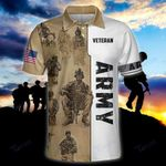 US veteran 4th july independence day army All Over Print Polo Shirt