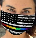 LGBT love is love american flag Face Mask PM 2.5 3pcs
