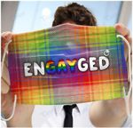 LGBT engayged rainbow color Face Mask PM 2.5 3pcs