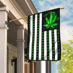 Weed american flag independence day 4th july Garden Flag, House Flag