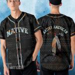 American native earth pattern Baseball Shirt