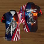 Jesus Lion Christ Cross american flag 4th july Baseball Shirt
