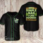 Weed love i'm a simple man Baseball Shirt