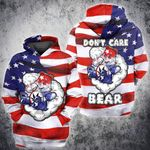 Weed Bear American Flag independence 4th july 3D All Over Printed Shirt, Sweatshirt, Hoodie, Bomber Jacket Size S - 5XL
