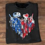 Independence day camping heartbeat Graphic Unisex T Shirt, Sweatshirt, Hoodie Size S - 5XL