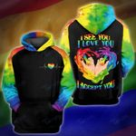 LGBT i see you love you accept you 3D All Over Printed Shirt, Sweatshirt, Hoodie, Bomber Jacket Size S - 5XL