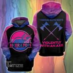 LGBT bisexual dinosaur swing both 3D All Over Printed Shirt, Sweatshirt, Hoodie, Bomber Jacket Size S - 5XL
