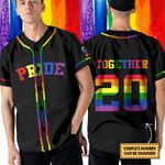 LGBT couple together since rainbow color custom Baseball Shirt