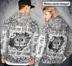 Custom name From our first kiss to our last breath 3D All Over Printed Shirt, Sweatshirt, Hoodie, Bomber Jacket Size S - 5XL
