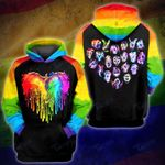 LGBT dragon rainbow water color 3D All Over Printed Shirt, Sweatshirt, Hoodie, Bomber Jacket Size S - 5XL