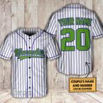 420 canna custom name and number Baseball Shirt