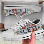 Hologram zodiac leo Low Top Canvas Shoes