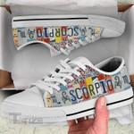 Hologram zodiac scorpio Low Top Canvas Shoes