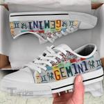 Hologram zodiac gemini Low Top Canvas Shoes