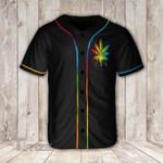 Weed Leaf LGBT Baseball Shirt