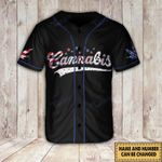 Weed USA Independence Day custom name and number Baseball Shirt