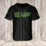 420 bee happy Baseball Shirt