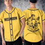 Mushroom skull die once live forever Baseball Shirt