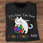 LGBT D and D c everything's fine Graphic Unisex T Shirt, Sweatshirt, Hoodie Size S - 5XL