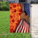 American native hand flag Garden Flag, House Flag