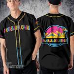 LGBT dinosaur pansexual Baseball Shirt
