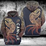 Zodiac cancer mandala pattern 3D All Over Printed Shirt, Sweatshirt, Hoodie, Bomber Jacket Size S - 5XL