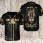 Lion i am who i am king nov Baseball Shirt