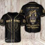 Lion i am who i am king may Baseball Shirt