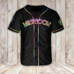 Mushroom Flag Tiedye Baseball Shirt