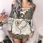 Teacher Mandala Pattern Lace-Up Criss Cross Sweatshirt Dress