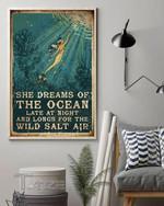 Mermaid Ocean She Dreams Of The Ocean Late At Night And Longs For The Wild Salt Air Wall Art Print Poster
