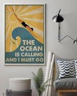 Swimming Summer Sun The Ocean Is Calling And I Must Go Wall Art Print Poster