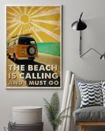 Vans Sun Summer The Beach Is Calling And I Must Go Wall Art Print Poster
