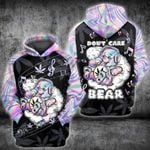 Weed Leaf Don'r Care Bear Music 3D All Over Printed Hoodie/ Zip Hoodie Size S - 5XL
