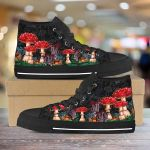Psychedelic Mushroom Unisex High Top Canvas Shoes