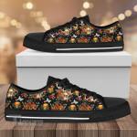 Flower Mushroom Low Top Canvas Shoes