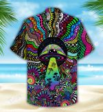 Mushroom Psychedelic All Over Printed Hawaiian Shirt Size S - 5XL
