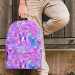 Mushroom Psychedelic Pattern Premium Fashion Backpack