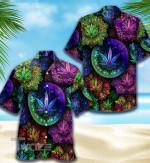 Weed Psychedelic Mandala All Over Printed Hawaiian Shirt Size S - 5XL
