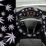 Weed leaf hologram pattern Car Steering Wheel Cover