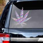 Weed leaf hologram pattern Decal