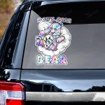 Weed dont care bear Decal