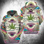 Weed Psychedelic 3D All Over Printed Hoodie/ Zip Hoodie Size S - 5XL