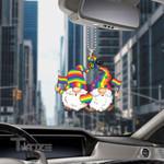 LGBT pride happy gnome Car Ornament