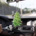 Weed bee happy Car Ornament
